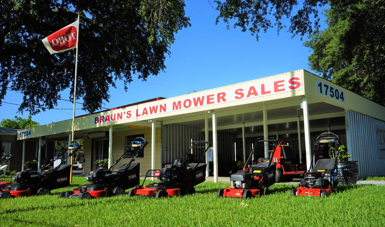 Braun's Enterprises is also a Family owned business -  They all have great a line products, Lawn Mowers, Edgers, String Line Trimmers, Blowers and a great repair shop.  - They specialize in Toro -