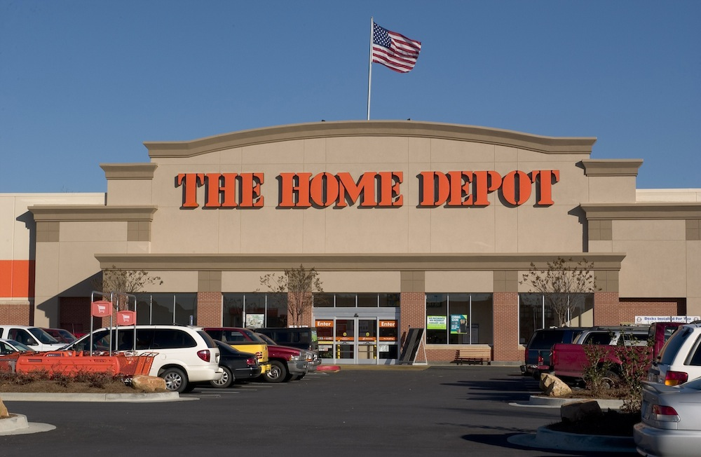 The Home Depot is a big box stores have plenty of mulch, shovels, rakes and lots of landscape supplies, grass, etc.